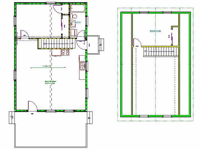 Download 16 x 24 gambrel cabin plans plans free for Gambrel cabin plans